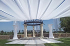 This is what our white draping service looks like. Call us at: 949.374.7258