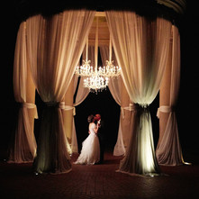 Night Drapping Beautiful Wedding Decorations in Los Angeles County Call 949-374-7258