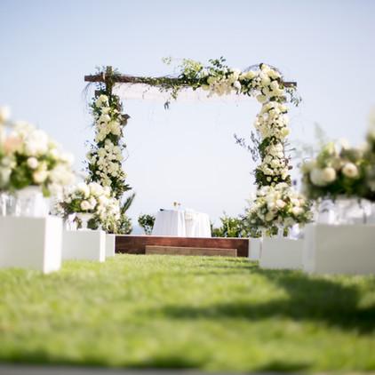 Flower Arrangement Wedding Walkway Event in Los Angeles County Call 949-374-7258