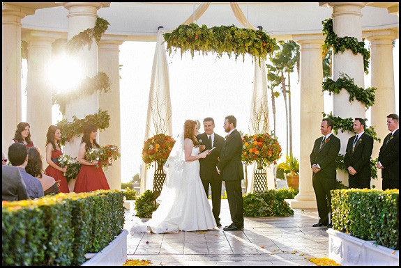 Wedding At Saint Regis In Dana Point OCLAEvents Provided Decor Draping And Support Altar Pic