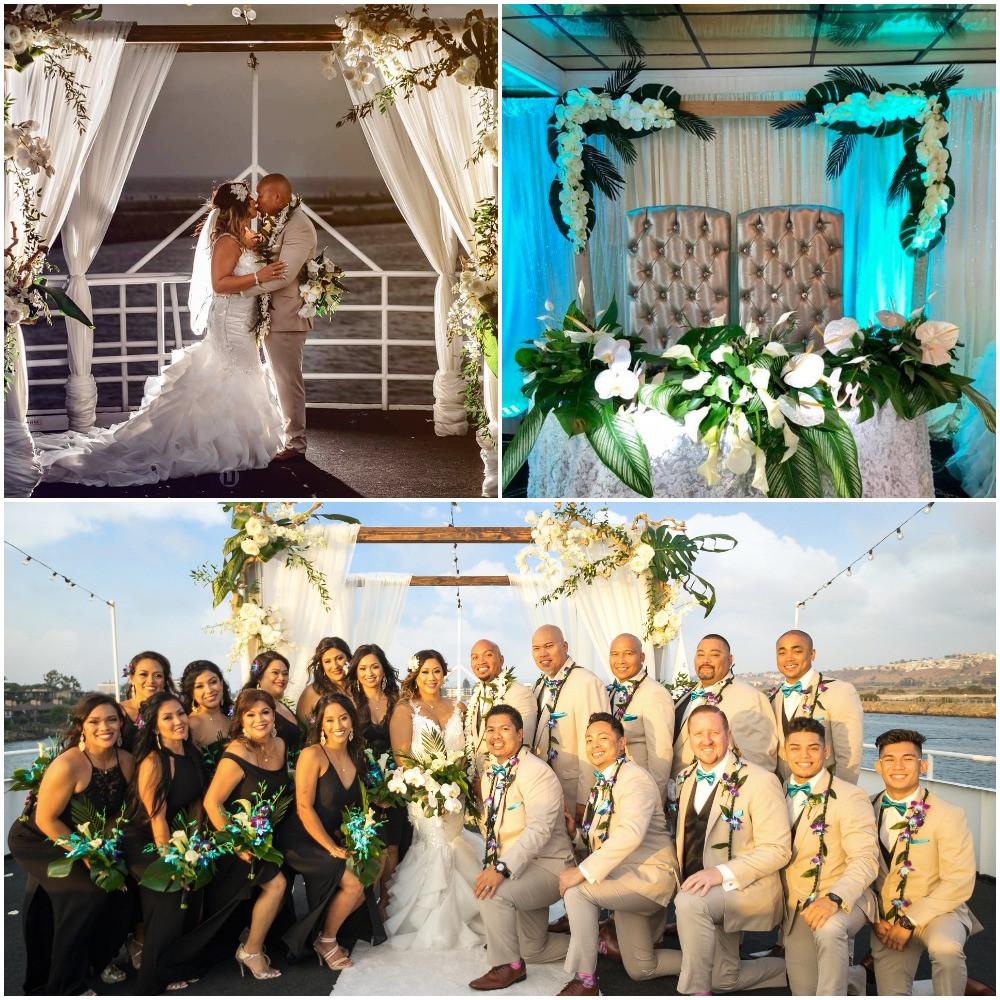 yacht wedding decor mundap rental orange county