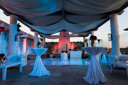 Elegant Event With Tables, Dance Floor, And Swaging Produced by OCLA Events in Orange County Call 94