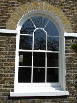 Bespoke timber sash window (London)