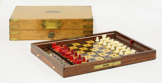 Jaques & sons Statu quo travelling chess