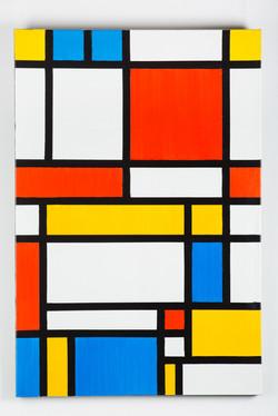 Белая матрица с красным, синим, желтым