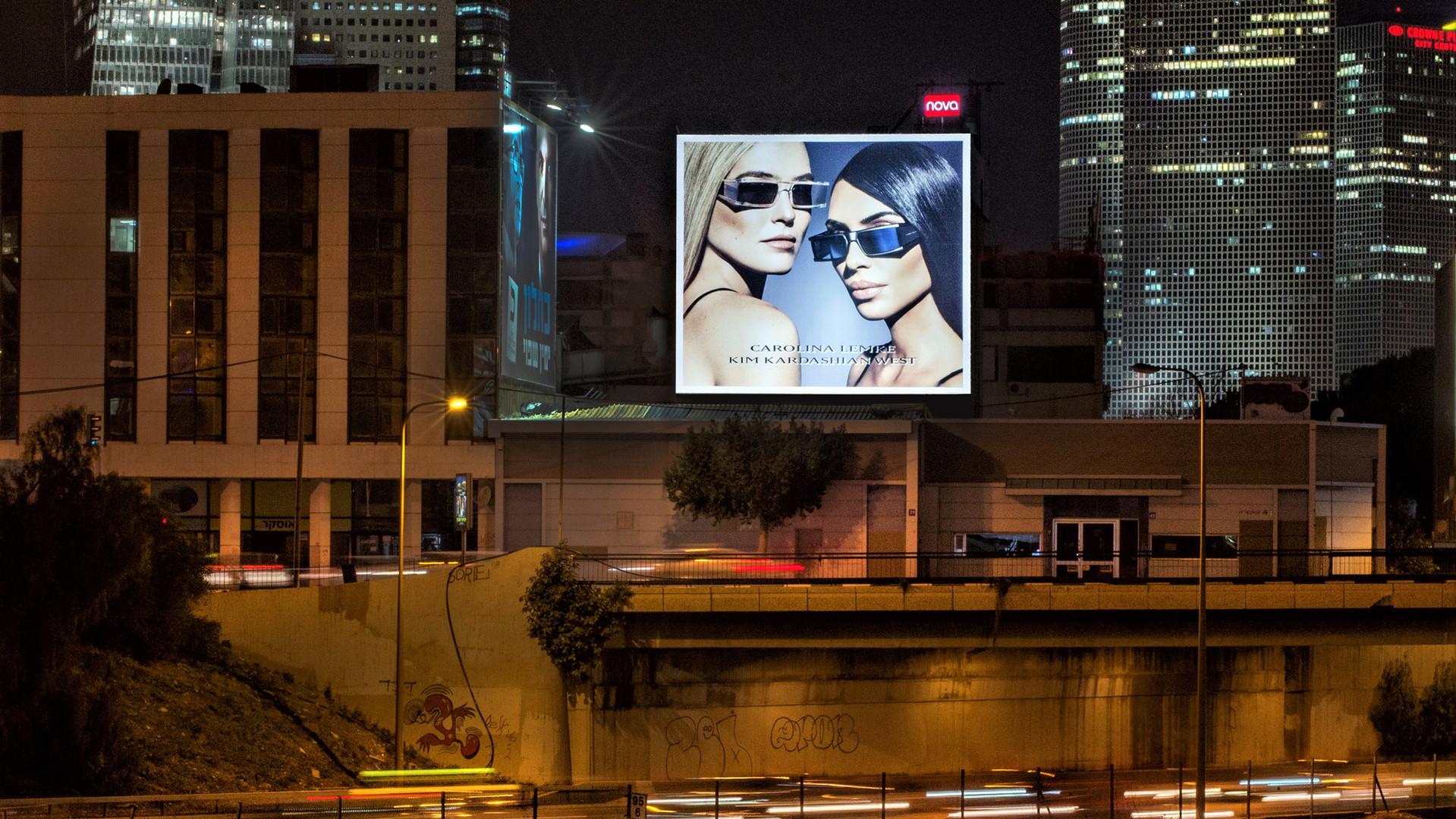 שלטי פרסום ענק על גבי קירות - שלטי חוצות תל אביב