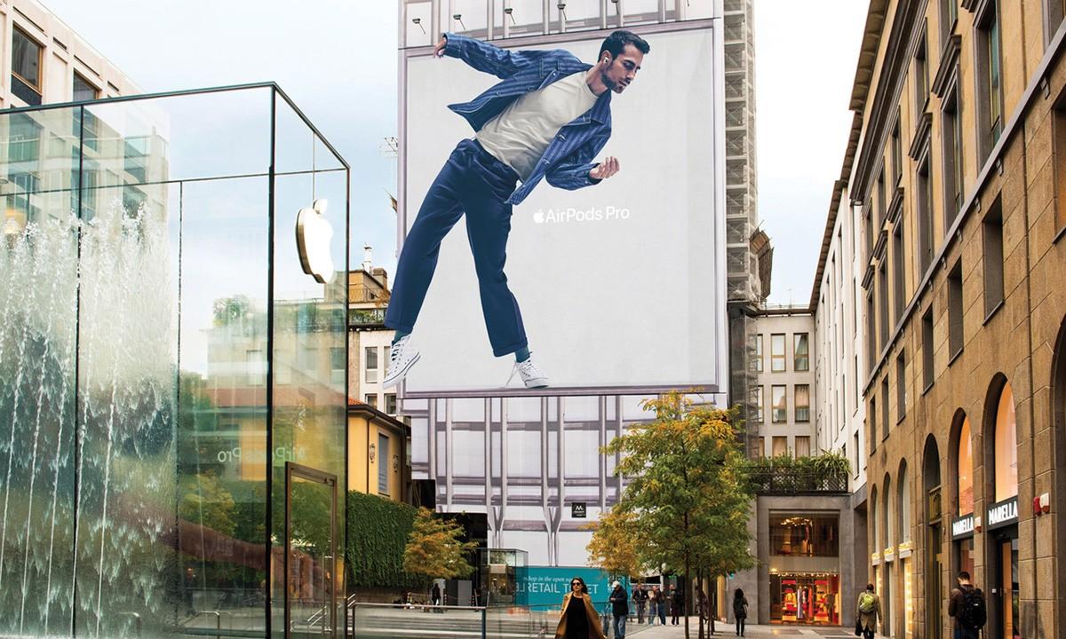קמפיין אירפודס פרו פרסום חוצות