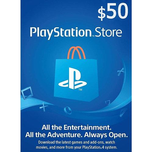 Ключ пополнения PSN PLAYSTATION NETWORK $50 (USA)