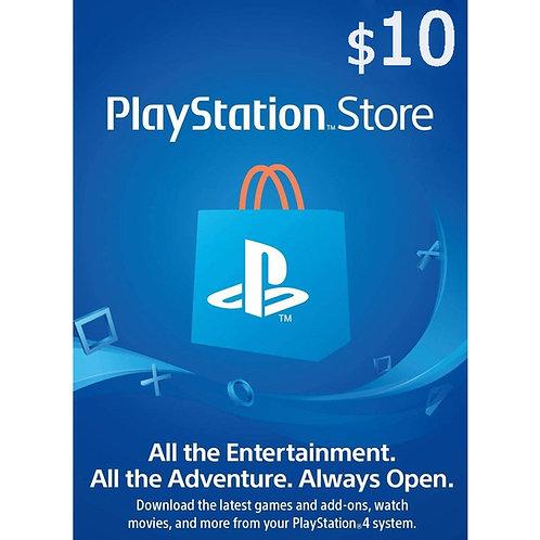 Ключ пополнения PSN PLAYSTATION NETWORK $10 (USA)