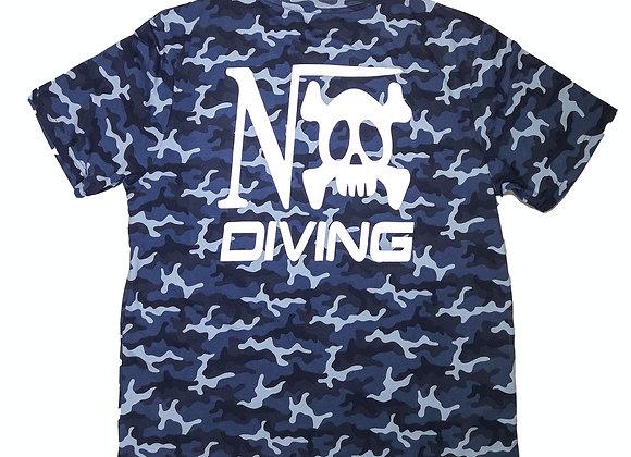 "Tee-shirt Camo bleu impression ""Nox Diving"" coeur et dos"