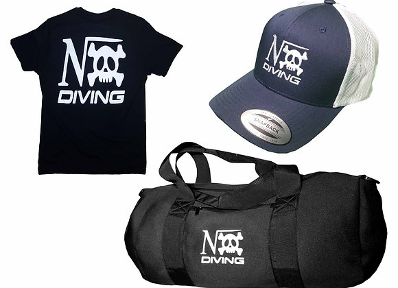 "pack ""Nox diving""Tee-shirt pirate-casquette-sac néoprène"