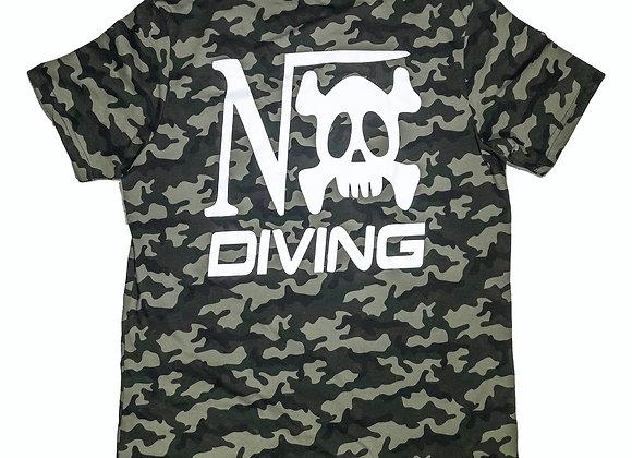 "Tee-shirt Camo vert impression ""Nox Diving"" coeur et dos"