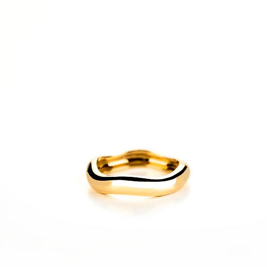 Fede ondulata in oro, Large