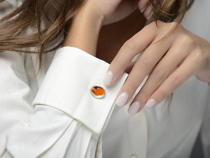 Gemelli da camicia in argento e smalto colorato