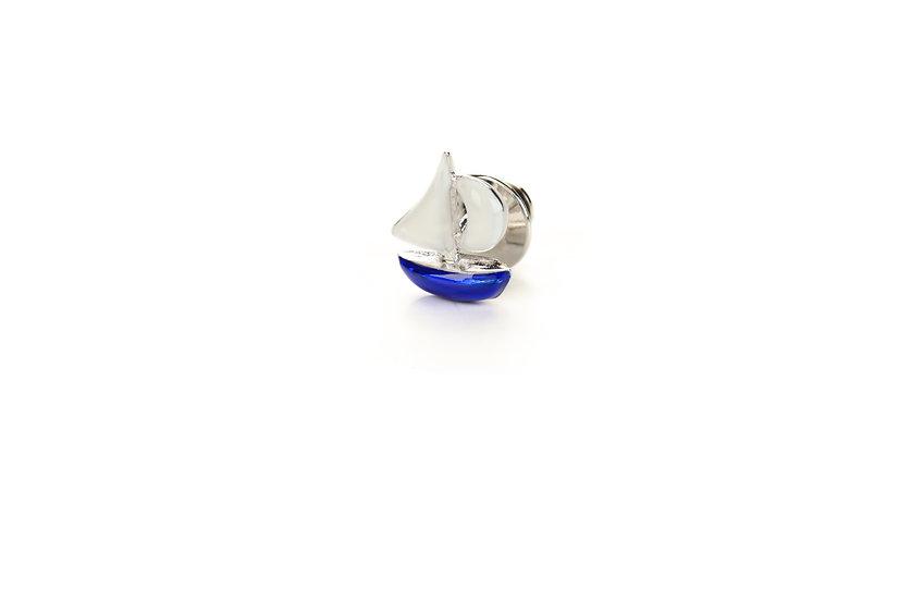 Spilla da giacca con barca a vela