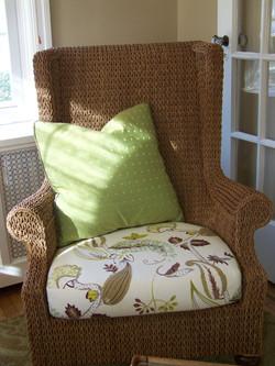 Wicker Chair Cushion & Pillow