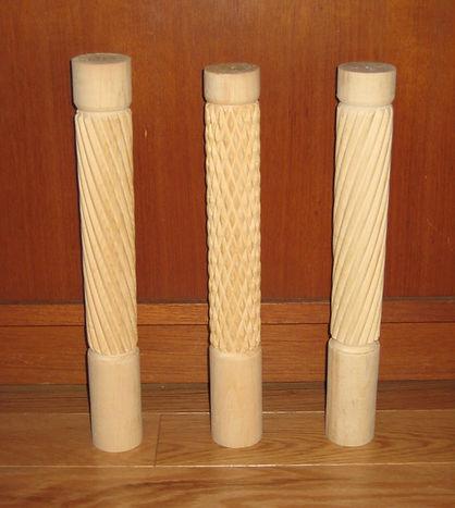 Exemple de cannelures tracées avec l'outil.
