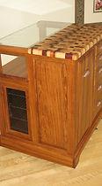 Ïlot mobile de cuisine en Jatoba