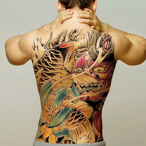 temporary tattoo stickers full back chest for men womenwaterproof 48/34 cm