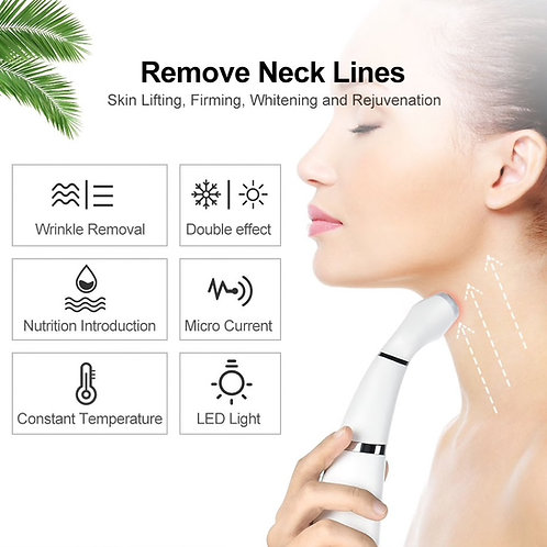Neck Wrinkle Remover LED Photon Therapy Face Lifting Massager