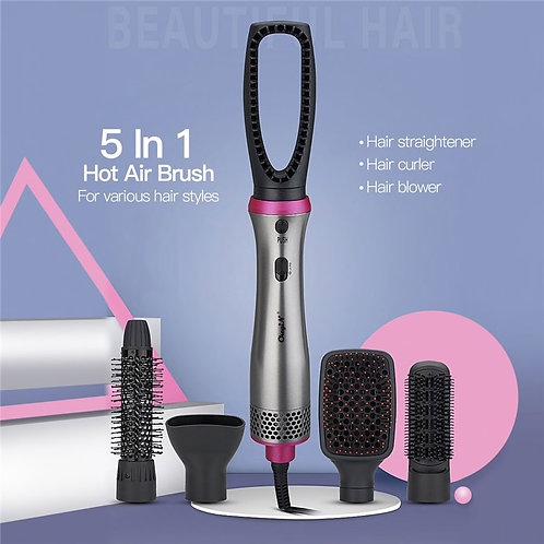 5 In 1 Air Brush Set Professional Hair Straightener Curler