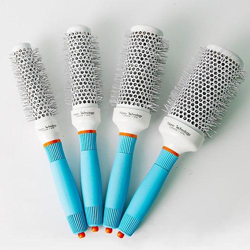 2021 Professional Round Blue Hair Brush Ceramic Ion