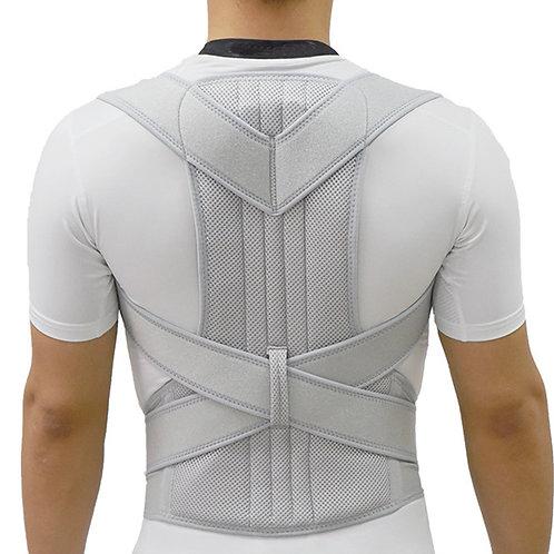 Silver Posture Corrector  Back Brace Spine Corset Belt Shoulder