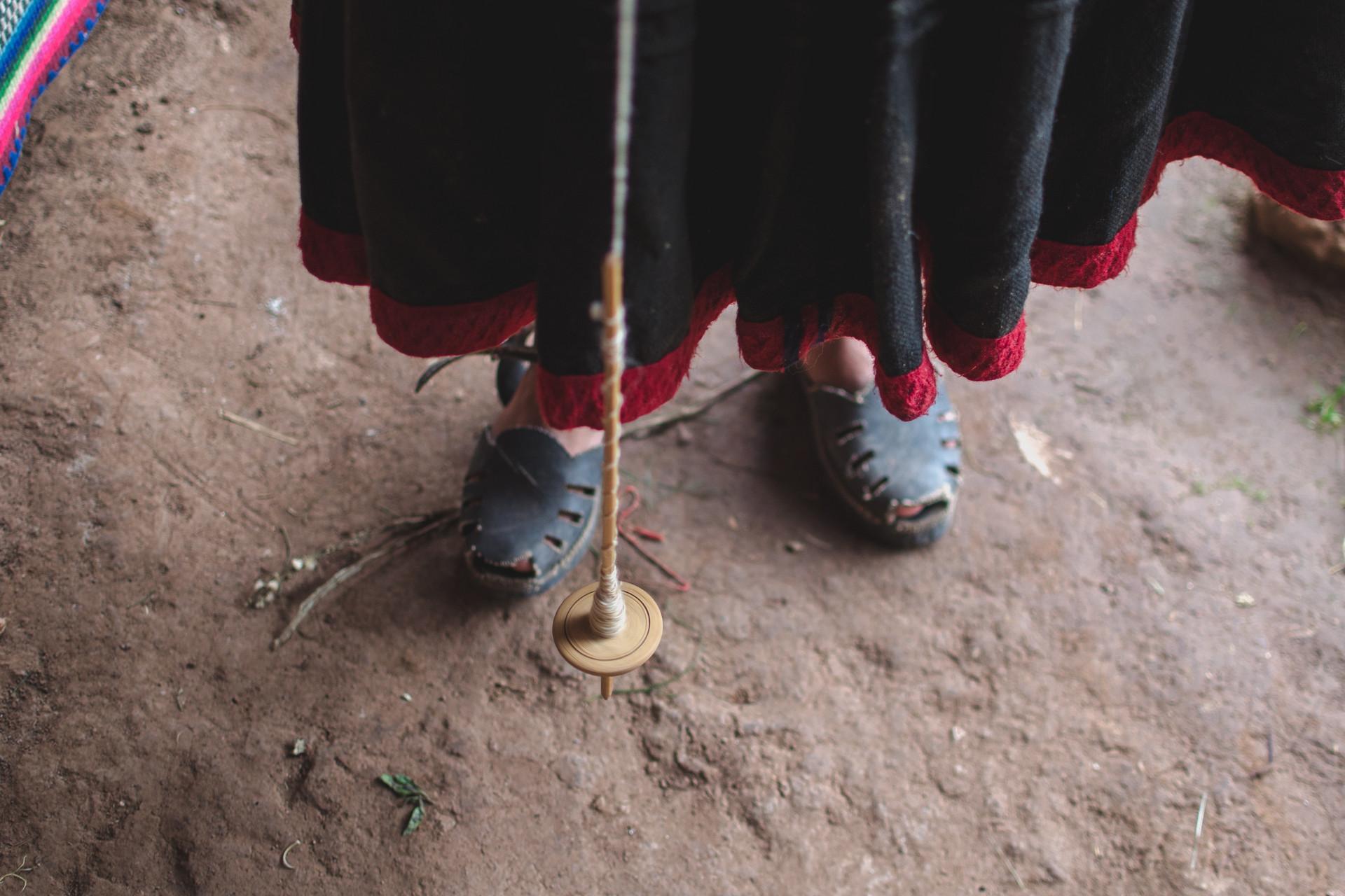 Textiles y wakas sagradas de Chinchero, Perú
