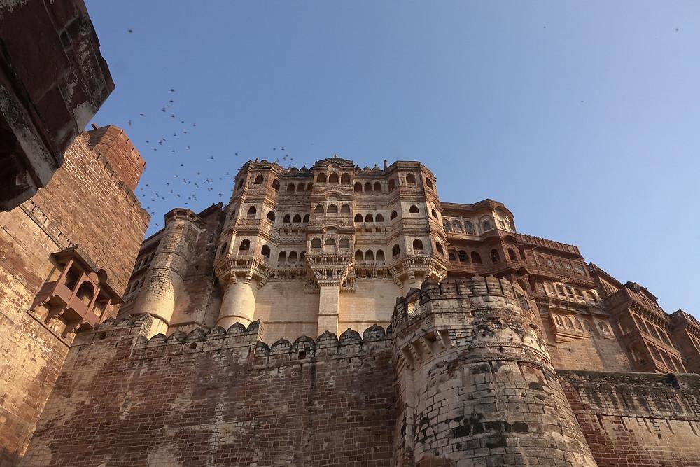 L'un des plus beaux palais de l'Inde, à l'intérieur du Fort Mehrangarh  à Jodhpur