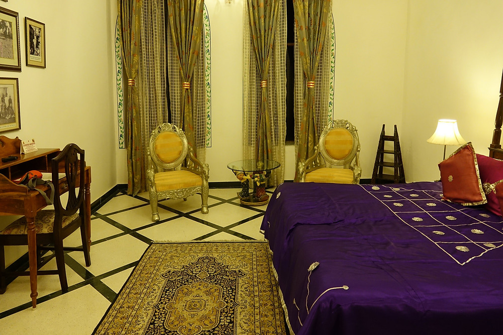 Ma chambre dans la haveli de Fort Bargui !