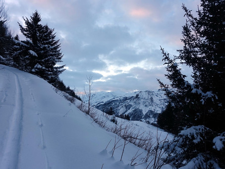 Première neige au Roc Verdet