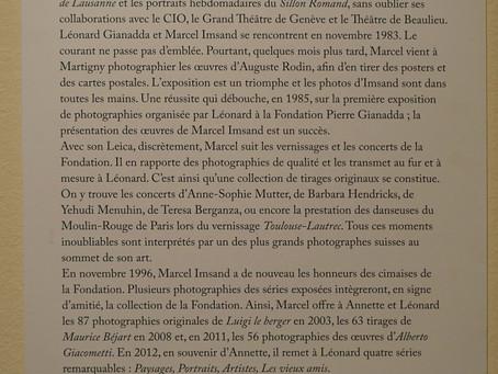 Rétrospective Marcel Imsand à la Fondation Gianadda