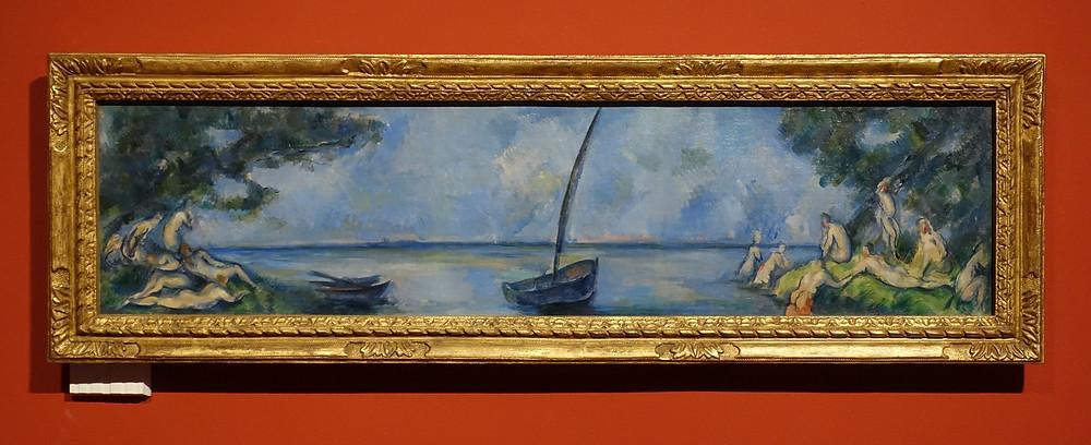 La Barque et les Baigneurs (vers 1890) Huile sur toile 30 x 124 cm
