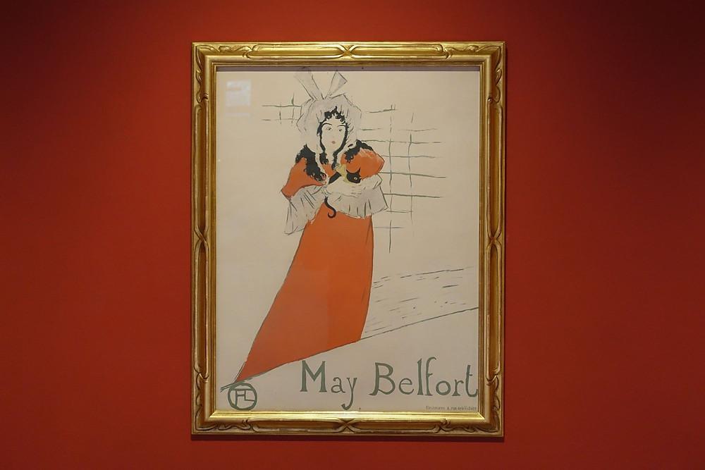 May Belford, 1895, lithographie cinq couleurs sur vélin, 79,5 x 61 cm