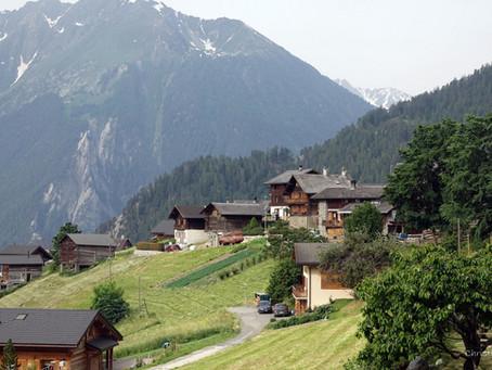 Le Levron, un petit village du val de Bagnes