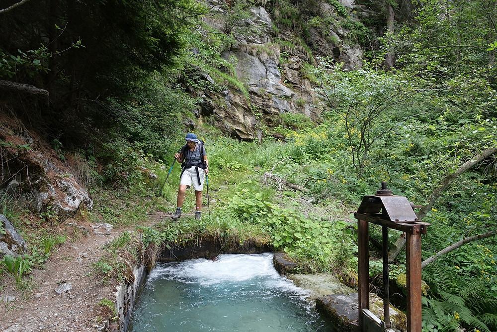 La prise d'eau du bisse de Ergisch