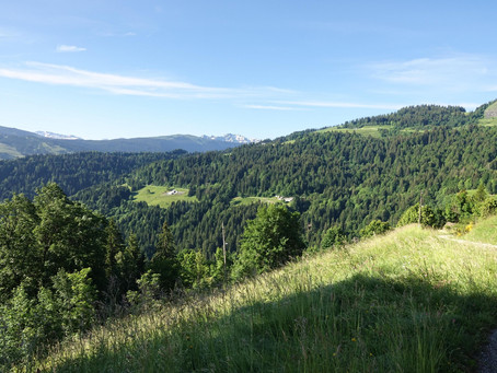 À la croix Cartier face au Mont-Blanc