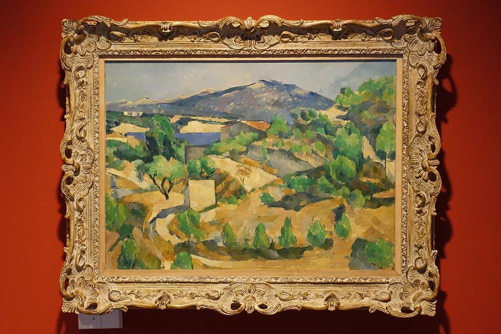 Montagnes en Provence - Le Barrage de François Zola vers 1879) Huile sur toile 53,5 x 72,4 cm