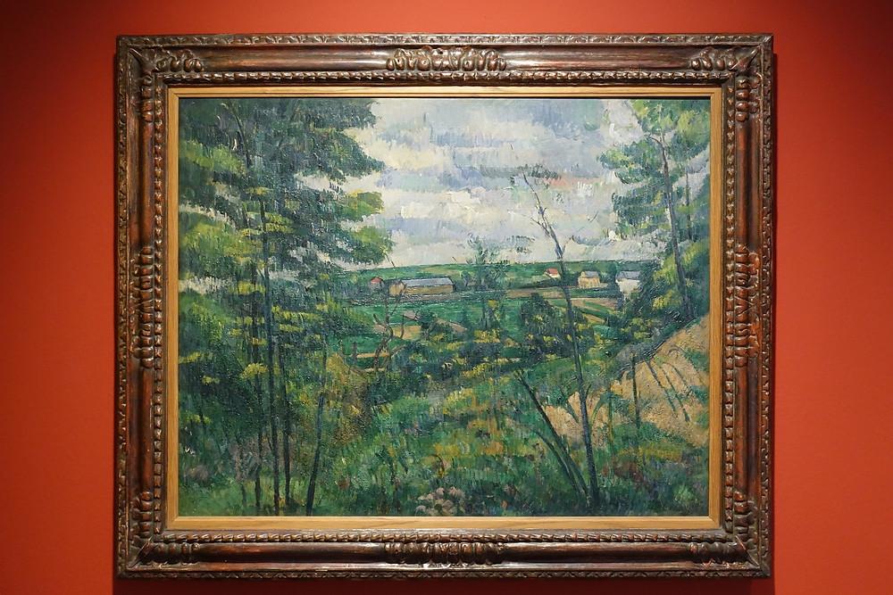 La Plaine de Saint-Ouen-L'Aumône vue prise des carrières du Chou (vers 1880) Huile sur toile 72 x 91 cm
