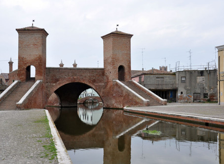 Comacchio dans le delta du Pó