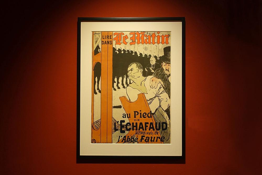 Au pied de l'échafaud, 1893 Affiche, lithographie cinq couleurs sur vélin, état unique, 82,5 x 59 cm