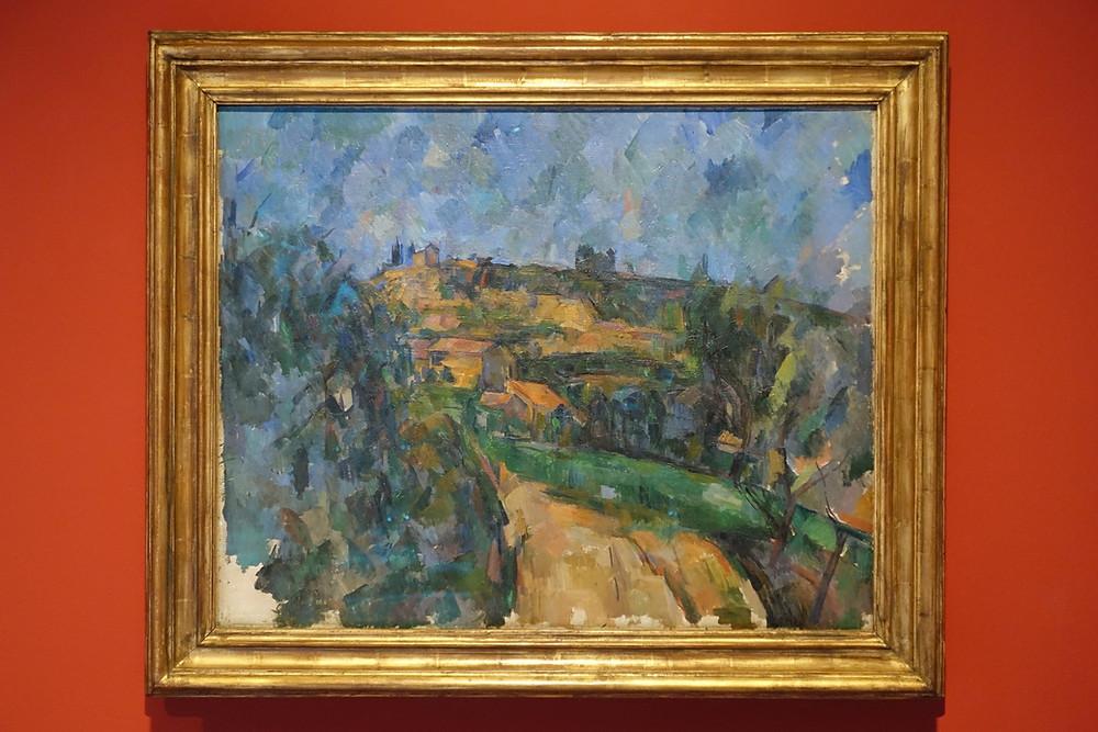 La Route tournante en haut du chemin des Lauves (1904 - 1906) Huile sur toile 65 x 81 cm