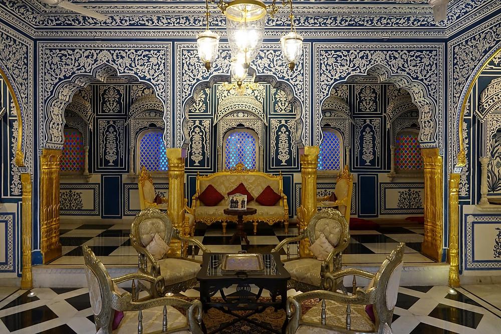 À l'i,yérioeur du Schahpûra House, superbe haveli à Jaipur