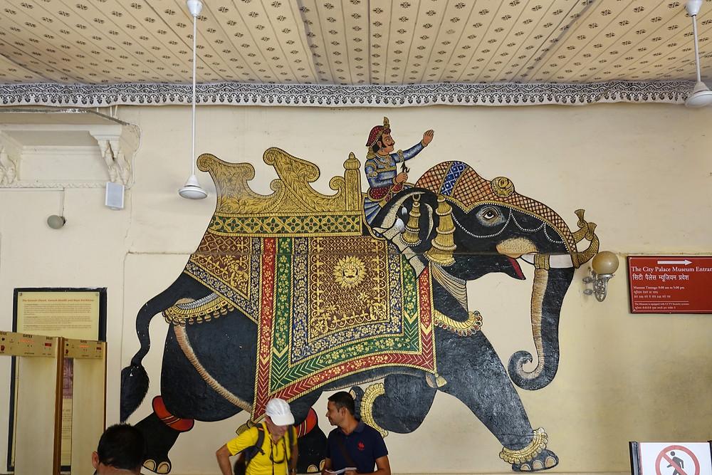À l'intérieur du City Palace à Udaipur