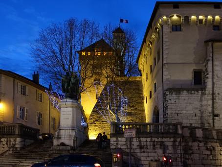 Chambéry, une nuit d'hiver