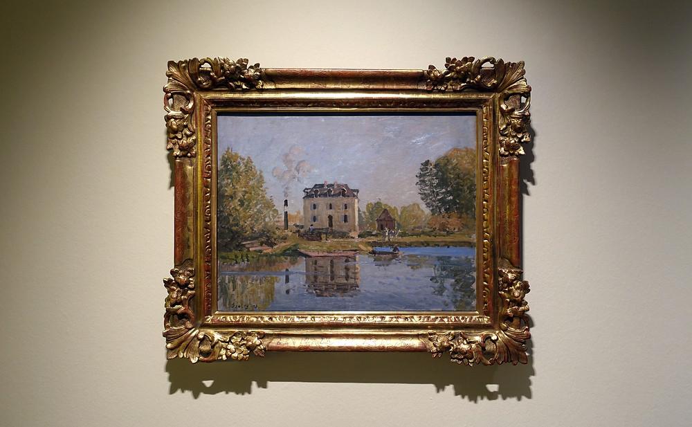 Alfred Sisley - L'inondation. Bord de la Seine, Bougival