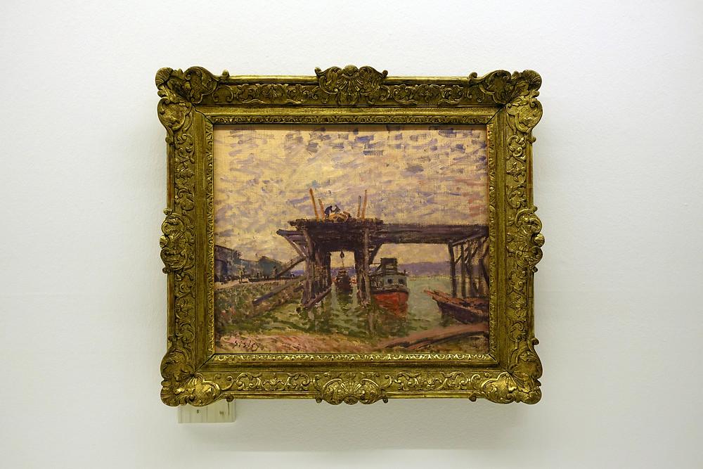Alfred Sisley - Le garage des bateaux-mouches