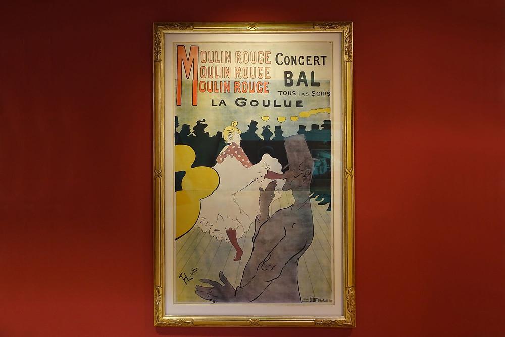 Moulin Rouge - La Goulue, 1891 lithographie quatre couleurs, 191 x117 cm