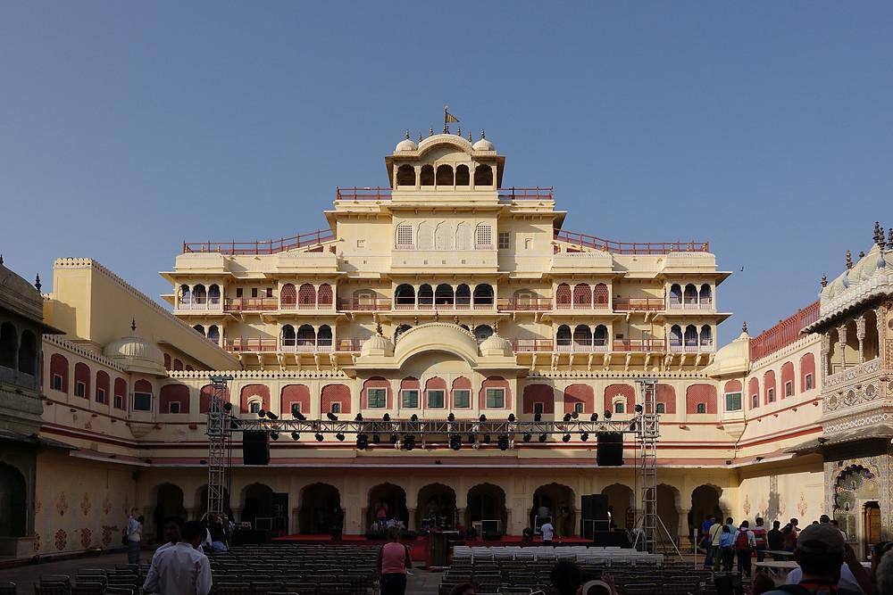 Le Chandra Mahal, à l'intérieur du City Palace à Jaipur