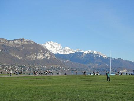 Annecy sous un soleil d'hiver